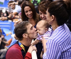 family, Michael Phelps, and swimming image
