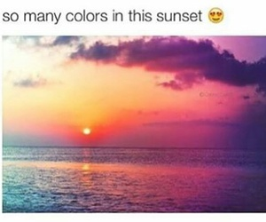 sunset, beach, and colour image