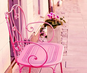 pink, chair, and vintage image