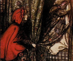 little red riding hood, art, and fairy tale image