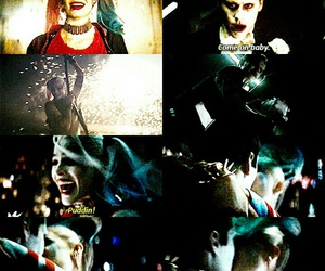harley quinn, jared leto, and joker image