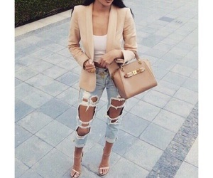 fashion, style, and ripped jeans image