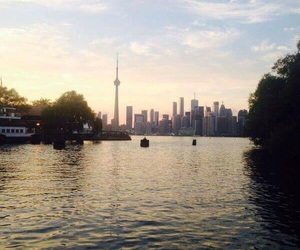 sunset, toronto, and canada image