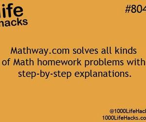 math, life hacks, and problem image