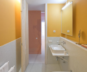 apartment, bathroom, and colorful image