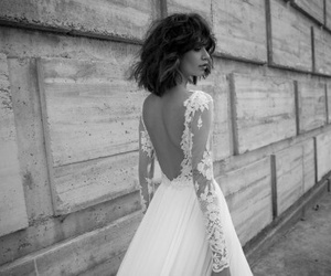 dress, Flowy, and open back image
