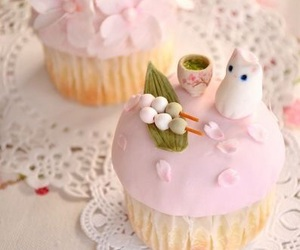 sweet, cat, and cupcake image