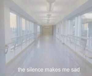 sad, silence, and grunge image
