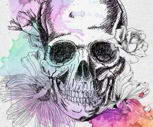 art, skull, and wallpaper image