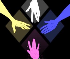 steven universe, pink diamond, and blue diamond image