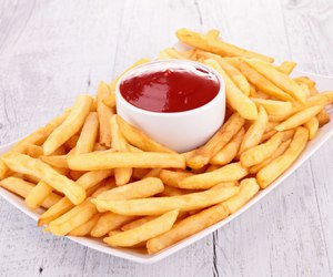 food, love, and fries image