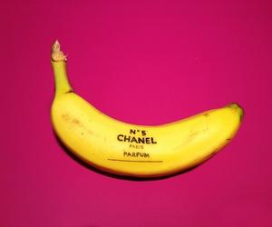 chanel, banana, and pink image