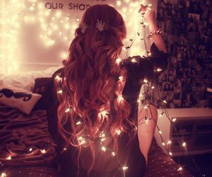 girl, light, and hair image