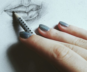 art, drawing, and holo image