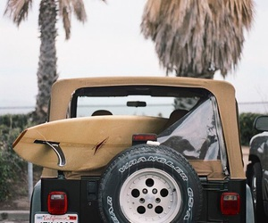 jeep, surf, and beach image