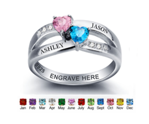 engraved ring and personalized rings image
