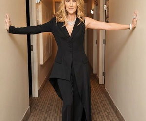 beautiful, black, and celine dion image
