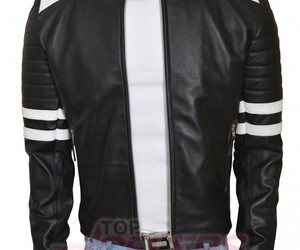 style, men's fashion, and leather outfit image