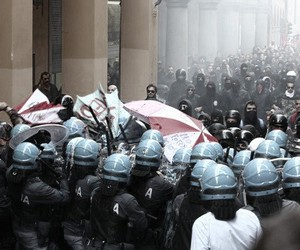 anarchy, police, and polizia image