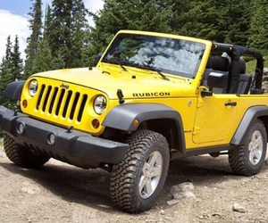 car, jeep, and yellow image