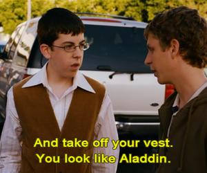 superbad, funny, and aladdin image