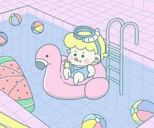 art, baby, and baby girl image