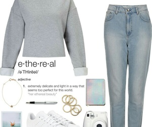 autumn, outfit, and sneakers image