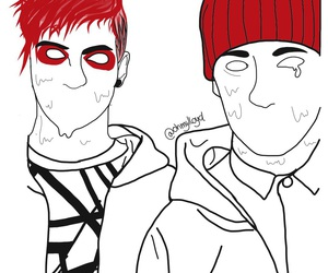band, tyler joseph, and clique art image