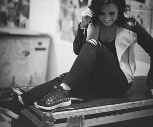 demi lovato, demi, and black and white image