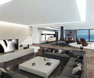 living room, luxury, and penthouse image