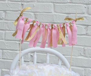 etsy, pink and gold, and cake decor image