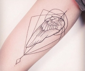 arm, black, and geometric image