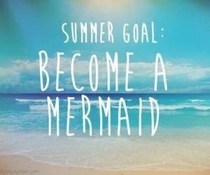 mermaid, summer, and beach image