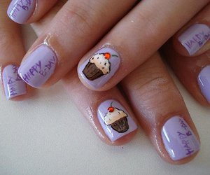 cup cake, design, and nail art image