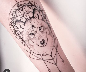 tattoo, wolf, and tatto image