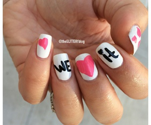 nails, we heart it, and pink image