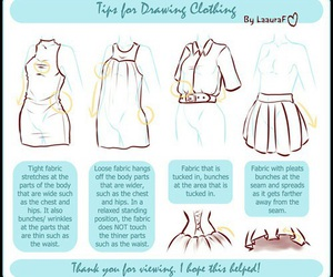 clothes, draw, and tutorial image