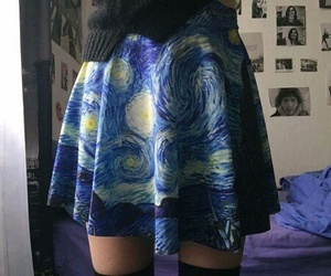 art, skirt, and van gogh image