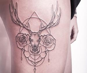 tattoo, animal, and flowers image