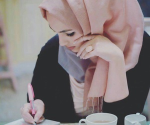 study, muslima, and tea image