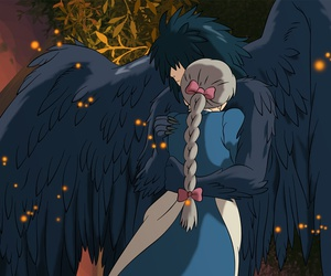 howl's moving castle, love, and anime image