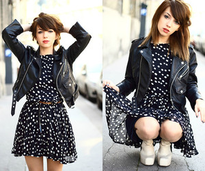 clothes, polka dot, and style image