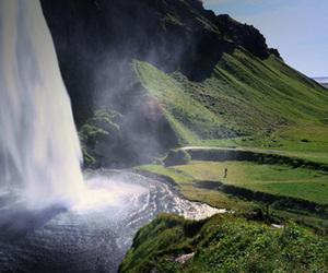waterfall, iceland, and beautiful image