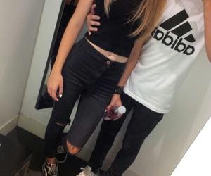 adidas, couple, and boy image