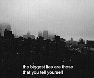quotes, lies, and sad image