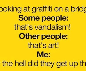 funny, graffiti, and art image