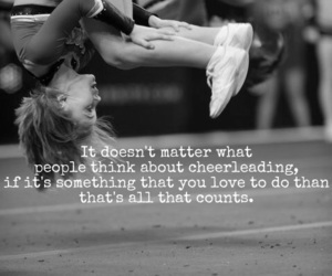 cheerleading, cheer, and cheerleader image