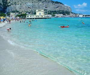 beach, italy, and Palermo image