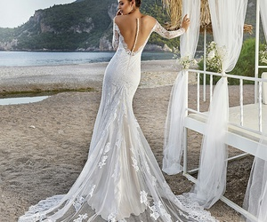 dress, romantic, and wedding image
