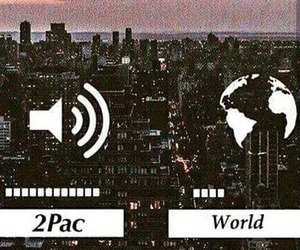 2pac, city, and music image